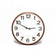 Часы настенные 116QZ (1АА) белый циферблат, медные цифры