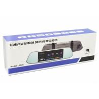 Видеорегистратор Mega L1029 (зеркало,2 камеры,120\90°,microSD до 32Gb)