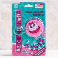 Детский подар.набор (часы+кошелек) Милашка (3824957)