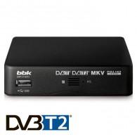 Ресивер цифровой DVB-T2 BBK SMP131HDT2 (HDMI,RCA,бпластик,черный)