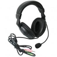 Наушники Defender HN 898 с микрофоном, черный, кабель 3м (63898)