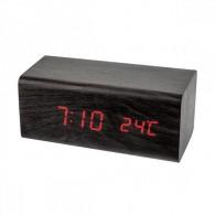 """Часы электронные Perfeo """"Block"""" крас.цифры, чер.корпус (темп.будильник, 3ААА)"""