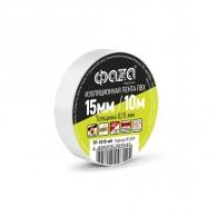 Изолента Фаzа TP-1510 белый