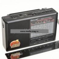 Радиоприемник RX-6666ch (USB+microSD,фонарь) черный