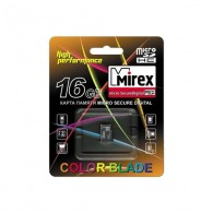Карта памяти microSDHC Mirex 16GB Class 4 без адаптера