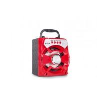 Колонка портативная MS-235BT (Bluetooth/USB /SD/FM/дисплей) красная
