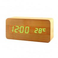 Часы настольные VST-862-4 зел.цифры, кор.корпус (дата, темп., будильник,4*ААА)