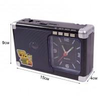 Радиоприемник М-200U (USB/microSD/Fm/AUX) черный Meier