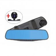 Видеорегистратор Mega L9000 (зеркало, 2камеры, 120°,microSD до 32Gb)