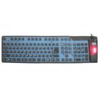 Клавиатура AgeStar HSK810FA EL гибкая черная USB+PS/2 с подсветкой
