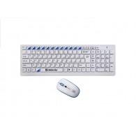 Комплект Defender Skyline 895 мышь+ клав USB беспроводной белый