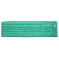 Клавиатура AgeStar HSK810FA гибкая зеленая USB+PS/2 /30
