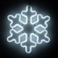 "Фигура светод. ""Снежинка"" 30х30х2см, белая.(5060087)"