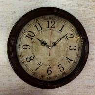 Часы настенные Бюрократ R77P D35см корич