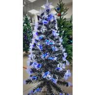 Елка 0,9м светодиодная (синие кисточки., со снегом) (XHQL-01-L)