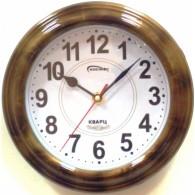 Часы настенные малые круглые светл.дерево (1АА)