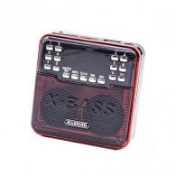 Радиоприемник HN-S510LED (USB/microSD/акб BL-5C) красный Haoning