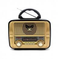 Радиоприемник MD-1905BT (Bluetooth/USB /SD/microSD/FM/акб/4*R20) зол. Kemai