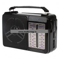 Радиоприемник RX-607ACch (USB+microSD/фонарь) черный