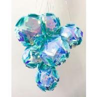 "Гирлянда ""Бахрома"" с насадками большие блестящие шары 3х06м прозр.шнур"