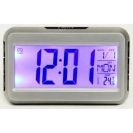 Часы электронные (дата, будильник, термометр, LCD- подсветка) 2616