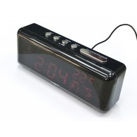 Часы электронные 762W (220V+2*ААА, крас.цифры) (время,дата, темп)
