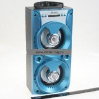 Колонка портативная MS-164BT (Bluetooth/USB /SD/FM/дисплей) голубая