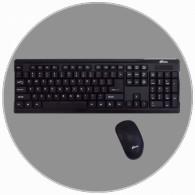 Комплект Ritmix RKC-001 черный беспроводной