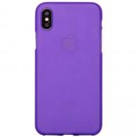 Чехол для iPhone X силиконовый фиол Mate