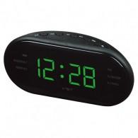 Часы настольные VST-902-2 зел.цифры+радио (220V)