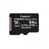 Карта памяти microSDHC Kingston 64Gb Class10 CanvasSelect Plus A1 без ад