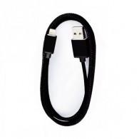 Кабель USB- lightning SmartBuy 1,2м хлопок+металл (iK-512met)