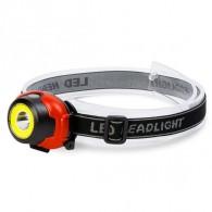 Фонарь налобный малый COB+LED (3*AAA)