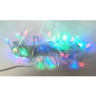 Эл. гирлянда 80 светод.цветная прозр. шнур