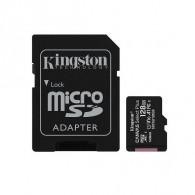Карта памяти microSDHC Kingston 128Gb Class10 CanvasSelect Plus A1 с адапт