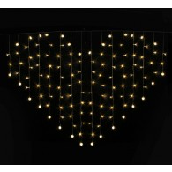 """Эл. гирлянда 124 светод """"Сердце"""" тепл.бел., 2х1,5m, фикс (1041889) прозр провод"""