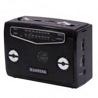 Радиоприемник HN-310UAT (Fm/USB/microSD/акб) черный Haoning