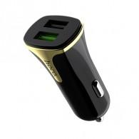 Авто-адаптер 12V->2*USB 3.4A HOCO (Z31) QC3.0