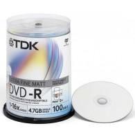 TDK DVD-R 4.7Gb 16x Cake box /100 Printable
