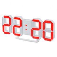 Часы настольные Perfeo Luminous син.цифры, бел.корпус (PF-663)