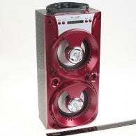 Колонка портативная MS-164BT (Bluetooth/USB /SD/FM/дисплей) красная