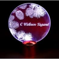 """Подставка """"С Новым Годом!"""" 11,5см, 2 LED, белый (2327199)"""