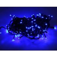 Эл. гирлянда 120 светодиод.синий, 12м, зел.шнур, 8 реж (ILD 120C-GB)