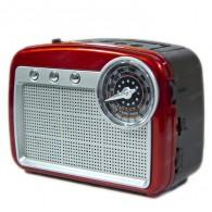 Радиоприемник HN-288 (Fm/USB/microSD/акб/фонарь/PowerBank) красный Haoning