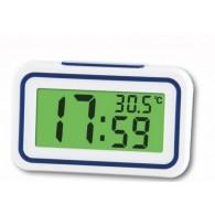 Часы электронные говорящие (будильник, термометр) KK-9905TR голубые