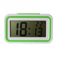 Часы электронные говорящие (будильник, термометр) KK-9905TR зеленые