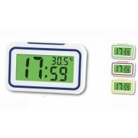 Часы электронные говорящие (будильник, термометр) KK-9905TR синие