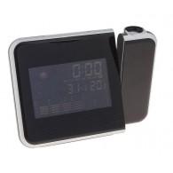 Часы проекционные (дата, будильник, термометр) черные (681419)