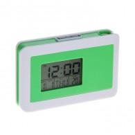Часы проекционные (дата, будильник, термометр) зеленые (681420)