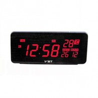 Часы электронные 806W (220V+2*ААА, крас.цифры) (время, дата, темп)